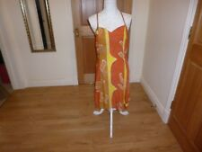 Women's strappy  Dress Size 14 tan/yellow/white
