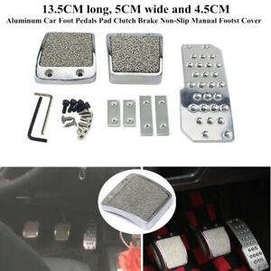 Aluminum Car Foot Pedals Pad Clutch Brake Non-Slip Manual Footst Cover Comfort