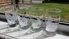 GUINNESS MEMORABILIA PROMOTIONAL GIFT XMAS SEASONS GREETING 4 DESIGN SHOT GLASS