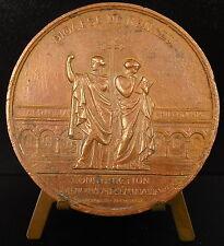 Médaille Rennes Bretagne construction du séminaire 1856 Oudiné Henri Labrouste
