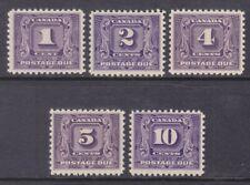 Canada J6-10 MNH OG 1930-32 Complete Postage Due Set XF Scv $302.00