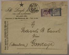 STORIA POSTALE REGNO 50 c.  REINACH 1925 SU BUSTA PUBBLICITARIA #SP340
