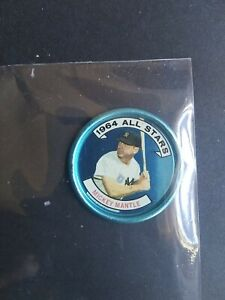 Mickey Mantle Topps 1964 All Star Coin  SEE PHOTOS For CONDITION of # 131