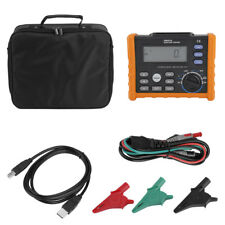 Digital Resistance Meter RCD Loop Resistance Tester Multimeter PEAKMETER PM5910.