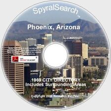 AZ - Phoenix & Area 1969 City Directory - Images + Text Searchable on CD