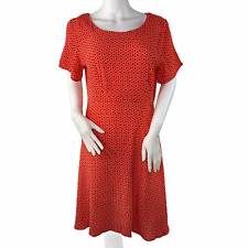Seraphine Red Print Short Sleeve Light Weight Fluted Shift Maternity Dress 6 NWT
