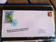 ISLE OF PABRAY LOCAL STAMP  COVER 1999 SCOTTISH PARLIAMENT ELECTIONS