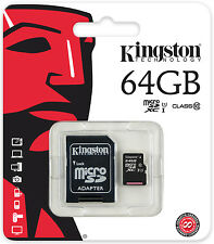 KINGSTON MICRO SD 64GB CLASSE 10 CLASS MICROSD SDXC SCHEDA DI MEMORIA CARD