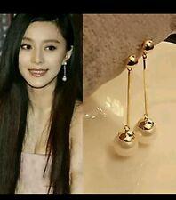 1pair Pearl Earrings Drop Earrings Gilded Dangle Earrings For Women Jewelry