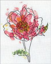 Cross Stitch Kit ~ Design Works Pink Floral #DW2970