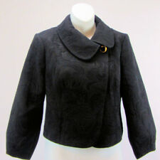 Guess Womens Size Medium Black Blazer Jacket Pea Coat Brocade  New With Tags
