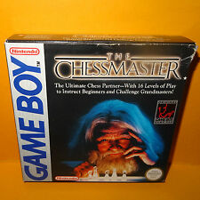 VINTAGE 1991 NINTENDO GAME BOY COMPACT VIDEO GAME SYSTEM THE CHESS MASTER BOXED