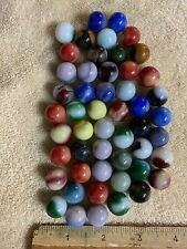 Lot of 50 Vintage Opaque Agate Marbles