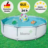 Blooma Schwimmbecken Pool Stahlrohrbecken Gartenpool 305 x 76 cm mit Filterpumpe