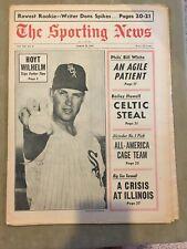 THE SPORTING NEWS MAR 18 ,1967 - HOYT WILHELM/ALCINDOR/MANTLE/METS/BERRA/BANKS!