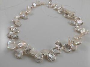 13-17mm Huge White Keshi Petal-like Freshwater Pearls Bridal Jewelry Making