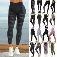 Women's Mesh YOGA Pants Leggings Fitness Jogging Workout Gym Stretch Sportwear