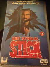 STICK VIDEO VHS RARE CULT ACTION BURT REYNOLDS BIG BOX CIC VIDEO