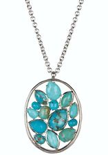 "IPPOLITA Silver Rock Candy Turquoise Cluster Pendant Necklace 33"" — MSRP $1,695"