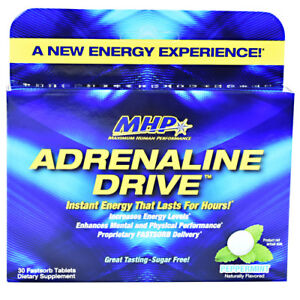 MHP Adrenaline Drive Instant Energy - 30 Fast-Sorb Tablets PEPPERMINT