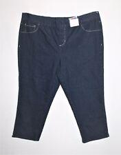 Alexia Designer Dark Blue Pull On Crop Jeans Size 18 BNWT #SB22