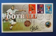 BENHAM 1998 FOOTBALL WORLD CUP 1F COIN FDC SIGNED SOL CAMPBELL