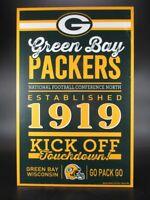 Green Bay Packers Holzschild 43 cm NFL Football,Established Wood Sign