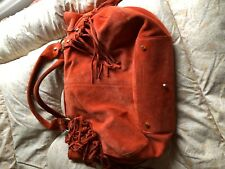 Russell & Bromley Suede Orange Handbag