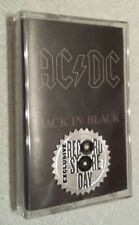 AC/DC Back In Black RSD Cassette Tape Record Store Day 2018 Brand New Limited Ed