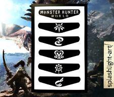 PS4 Controller Light bar 6x Monster Hunter World Vinyl Sticker Decal PlayStation