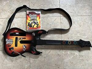 Guitar Hero World Tour with Red Octane Sunburst Guitar (Nintendo Wii)-Tested