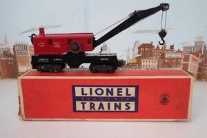 """Vintage Postwar Lionel O Gauge 6560-25 Work Crane Stamped """"656025"""" On Base W/Box"""