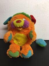 "Mattel Popples PUZZLE Popple Plush 11"" Orange Green Vintage 1980's Stuffed Toy"