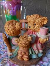 """Home Decor Music Box Plays Let Me Be Your Teddy Bear Resin 5"""" tall x 5"""" wide"""
