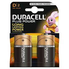 2 x Duracell Plus Power Type D Alkaline Batteries Pack - LR20 MN1300 MX1300 Mono
