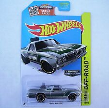 ZAMAC 1968 El Camino. HW Off-Road ~ 2015 122/250. CFJ83. New in Blister Pack!