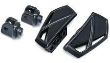 Kuryakyn Gloss Black Phantom Mini Floorboard Front Or Rear Adapter KIT Victory