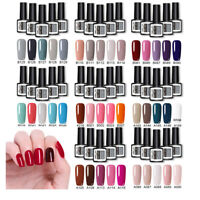 5 bottiglie / set Smalto Gel Kit Red Nude Color UV LED Gel Nail Varnish Manicure