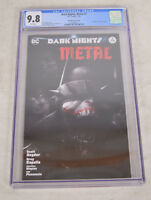Dark Nights Metal 2 DC 2018 NM Francesco Mattina Variant CGC 9.8 BW Batman