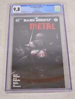 Dark Nights Metal 2 DC 2018 NM Francesco Mattina Variant CGC 9.8 BW Batman