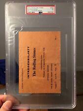 1970 Rolling Stones Concert Ticket Rasunda Stadium Stockholm Sweden PSA