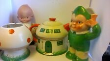 Rare Fab,Shelley Mabel Lucie Atwell Elfin Tea Set+sweet MLA Doll 'Diddums'1920's