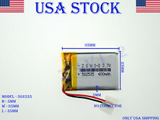 3.7V 400mAh 502535 Lithium Polymer LiPo Rechargeable Battery (USA STOCK)