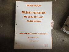 Massey Ferguson 222 322 422 Corn Head Parts Manual