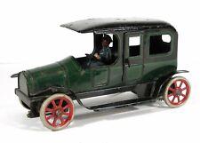 "LARGE 1920s GUNTHERMANN TIN LITHOGRAPH CABRIOLET LIMOUSINE AUTOMOBILE TOY 9"""