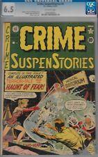 CRIME SUSPENSTORIES #4-CGC 6.5-EC- 1951 FREAKY CVR-J.CRAIG ART