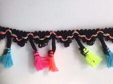 Tassels Trim Braid Fringe Ribbon Edging Craft Decoration 3.5 cm/1.38'' wide 1 yd