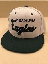 Philadelphia Eagles SnapBack Hat Cap White Green Mitchell & Ness Vintage