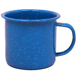 Emaille Becher Email Trinkbecher Tasse Camping Geschirr Outdoor Kaffee 350 680ml