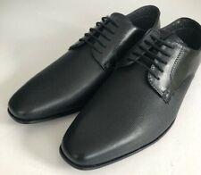 Burton Herren Schuhe London Orton Derby Gr. UK 7/41 Schwarz Perforiert Leder Smart